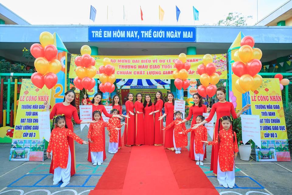 Lễ đón bằng công nhận trường Mẫu Giáo Tuổi Xanh đạt tiêu chuẩn chất lượng giáo dục cấp độ 3